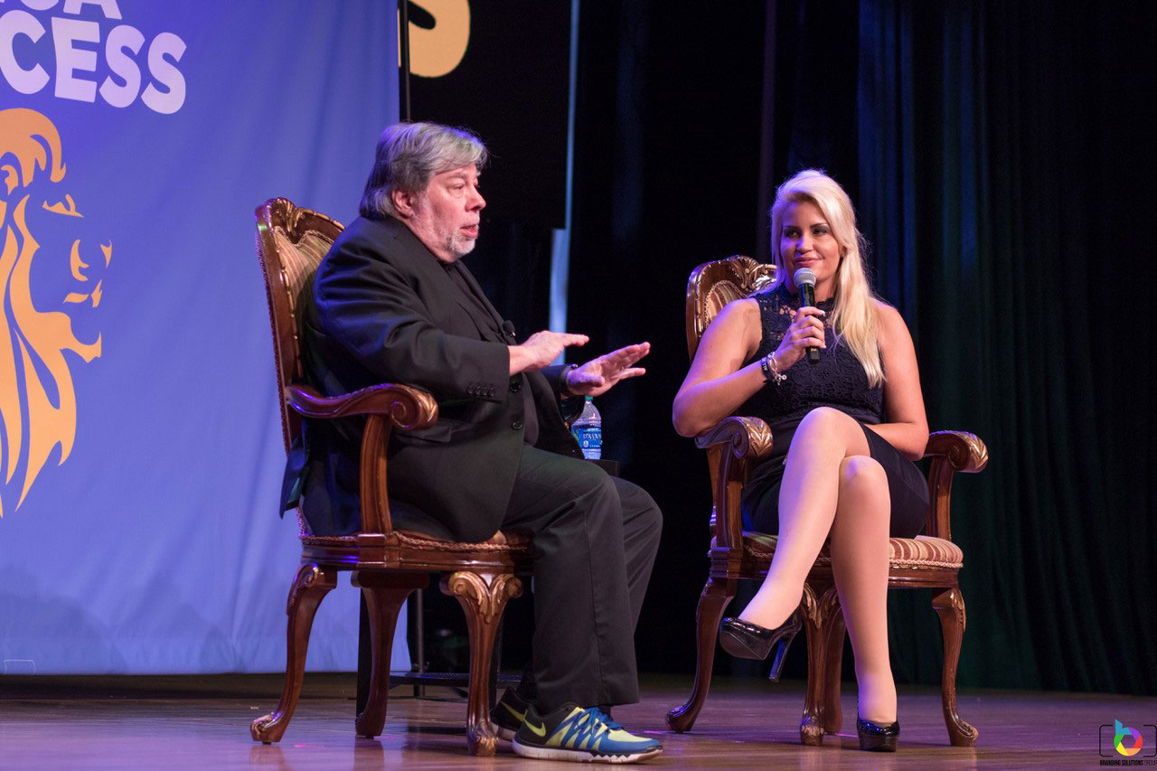 Steve Wozniak & Nicola Hollender in Los Angeles